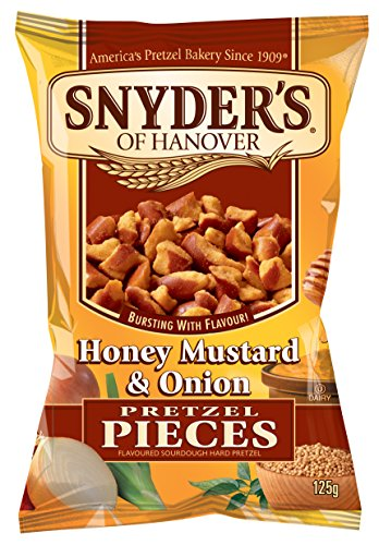 Snyder's Of Hanover Pretzel Pieces 125g (Pack of 10) - Honey Mustard and Onion