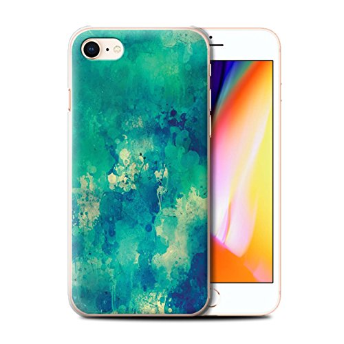 Telefoonhoesje voor Apple iPhone SE 2020 Teal Mode Verf/Mess/Graffiti Ontwerp Transparant Helder Ultra Slim Dun Hard Back Cover