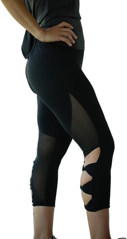 MüV365 Ultimate Yoga Pants for Women   Crisscross Strappy Workout Leggings with Hidden Pocket