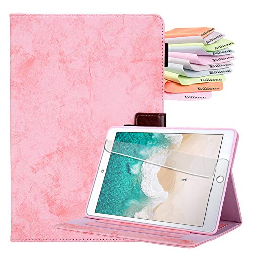 Billion Samsung Galaxy Tab A7 10.4 Case (SM-T500 / T505 / T507 2020), Auto Sleep/Wake, With Pocket and Pen Holder, Free Screen Protector, Pink