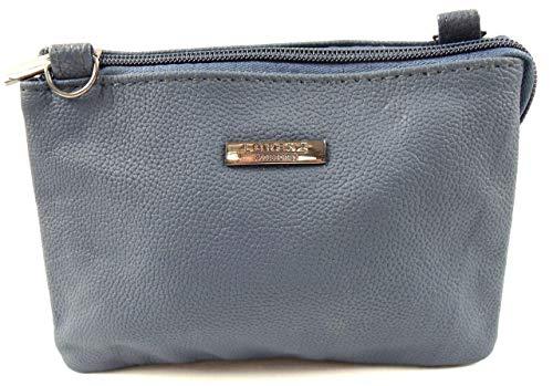 Emporium Leather Lorenz Femmes Cuir Petite Taille Sac à Bandoulière - Bleu, S