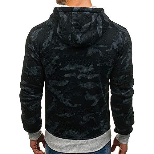 PRJN Men's Pullover Fleece Sweatshirt Camouflage Hoodies Mens Hoodie Sweater Men's Sweat Camo Hoody Sports Men's Fleece Pullover Hooded Sweatshirt Mens Hoodie Sweater Men's Long Sleeve Hoodie