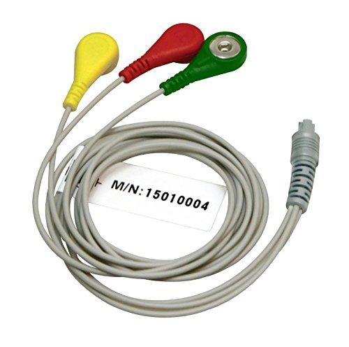 Express Panda Cavo ECG 3 derivazioni per guarire forza Principe 80B, 80A, 180B (3 fili ECG cavo connettore per sensori ECG portatile di Heal forza)