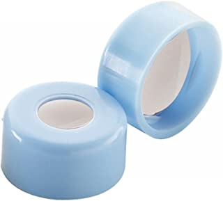 Wheaton 242776-01 Blue Snap Cap with 0.002 PTFE/0.038 Silicone Septa, 11mm Diameter (Case of 1000)