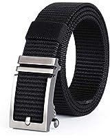 JASGOOD Nylon Belts with Automatic Buckle,Ratchet Belt-No Holes Web Belt for Men Pants