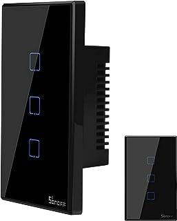Sonoff TX3 Interruptor Wifi, 3 Botões, Touch Screen, Funciona com Alexa - Preto