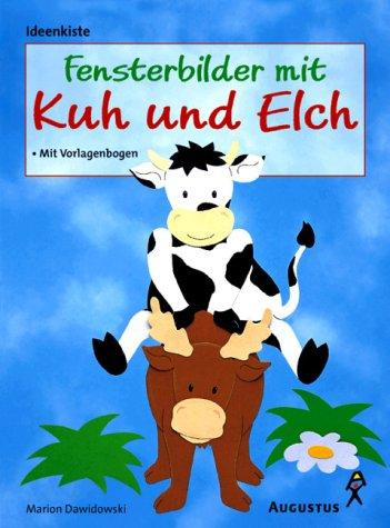 Fensterbilder mit Kuh und Elch