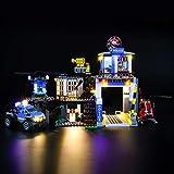 LIGHTAILING Conjunto de Luces (City Police Montaña: Comisaria Policía) Modelo de Construcción de Bloques - Kit de luz LED Compatible con Lego 60174 (NO Incluido en el Modelo)