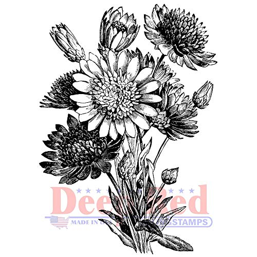 Deep Red Xeranthemum Rubber Cling Stamp