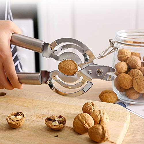 Can Opener Stainless Steel Bottle Openers Tin Opener for Jar with Smooth Edge Handle Multifunction Manual Nut Crackers Walnut Cracker Seafood Tools Lobster Crackers Crab Crackers