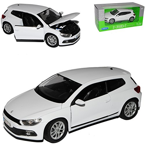 Welly Volkwagen Scirocco Coupe Weiss 3. Generation Typ 13 Ab 2008 1/24 Modell Auto