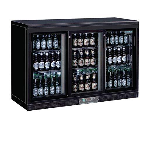 Frigo à bar / Arrière-bar portes coulissantes 273 bouteilles Polar 3 portes finition noire