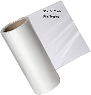 Zipcase 9 Inches × 50 Yard Roll Water Soluble Embroidery Stabilizer - Medium Weight & Thickness Wash Away Easily Best Choice for Topping Stabilizer - Clear Film Edition