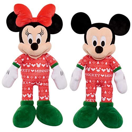 Disney Holiday Large 19' Plush - Mickey & Minnie (Brown Mailer) (18887)