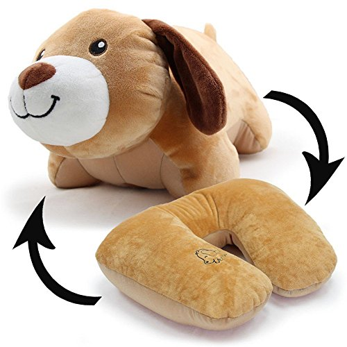 bebe cocoon Tier weiche Spielzeug veränderbare Plüsch U-Kissen Hals Reisekissen (Hund)