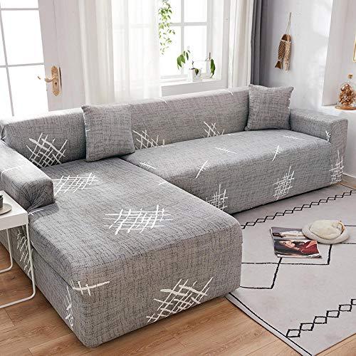 Fsogasilttlv Funda Antideslizante para sofá 4 plazas, Funda de sofá con Estampado elástico, Funda de sofá de Esquina seccional elástica, Funda para Sala de Estar en Forma de L T 235-300cm
