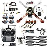 Qwinout DIY Drone Quadcopter 4-axle Aircraft Kit :F450 450 Frame + PXI PX4 Flight Control + 920KV Motor +GPS + AT9 Transmitter + Gimbal Camera Mount