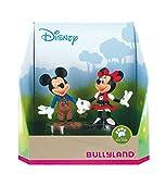 Bullyland 15081 – Juego de Figuras de Juguete Walt Disney Mickey en Pantalones de Piel y Minnie en el tirolés, Figuras pintadas a Mano, sin PVC, Regalo Ideal para niños y niñas para Jugar de fantasía