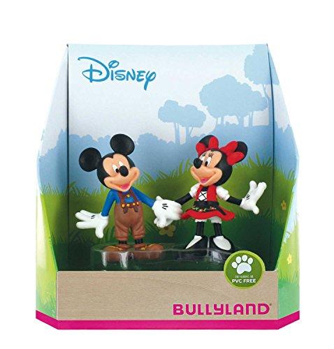 Bullyland 15081 - Spielfigurenset, Walt Disney Mickey in Lederhose und Minnie im Dirndl, liebevoll handbemalte Figuren, PVC-frei, tolles Geschenk für Jungen und Mädchen zum fantasievollen Spielen