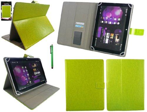 Emartbuy® Odys Lux 10 Tablet PC 10.1 Zoll Zoll Universalbereich Grün Multi Winkel Folio Executive Hülle Cover Wallet Hülle Schutzhülle mit Kartensteckplätze + Grün Eingabestift