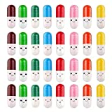 WSERE 200 Pieces Mini Pill Shaped Plastic Message Bottles Capsule Letter, Love Friendship Creative Pill Message in a Bottle Party Favors, Cute Message Pills for Couples Lovers Family Friends