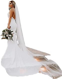 Spaghetti Strap Sheath Wedding Dress Lace Appliqued Pearl Beaded Low Back Crepe Bridal Gown