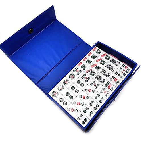 Mini Mahjong Set mit Box Tragbar Traditionelles Chinesisches Mah Jongg Set für Familie Reise Familie Freunde Partyspiel Sammeln Spiel