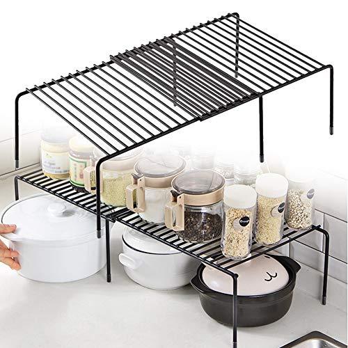 DierCosy Küchenschrank Regal Drahtgestell Freistehende Küchenregal Lagerregal Erweiterbares Regal Für Küchenschränke, Arbeitsplatten, Küchenschränke