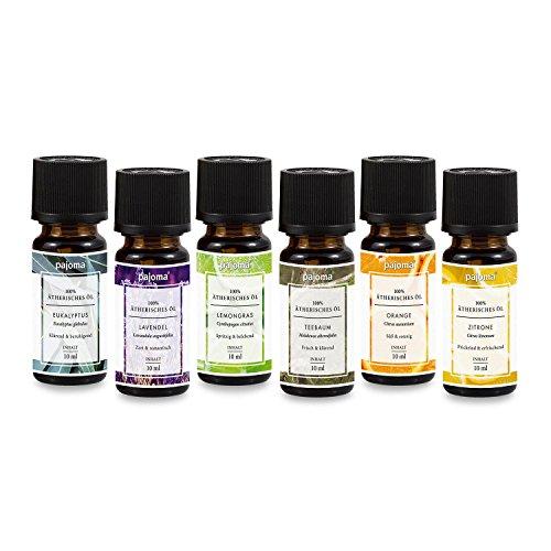 pajoma Duftöl Set 6er Duftöl Set rein ätherische Öle Made in Germany für Duftlampe Aromatherapie oder Diffuser