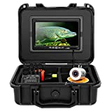 Eyoyo Fishing Camera, 7 inch LCD MonitorWaterproof Fish FinderCamera Underwater HP 720P30m Cable 12pcs IR Infrared LEDDVR 8GB for Ice,Lake and Boat Fishing