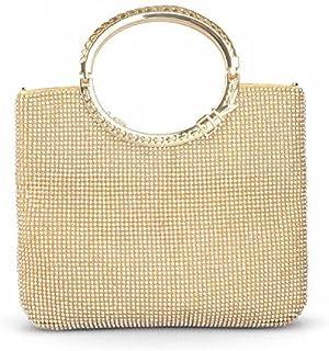 a052230fed9ed KISSCHIC Womens Handbag Crystal Rhinestone Evening Clutch Bags Party  Wedding Clutch Purses
