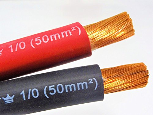 1/0 AWG EXCELENE WELDING CABLE BLACK OR RED MADE IN USA (20 FT, BLACK)