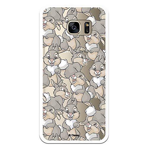 Funda para Samsung Galaxy S7 Edge Oficial de Bambi Tambor Patrones para Proteger tu móvil. Carcasa para Samsung de Silicona Flexible con Licencia Oficial de Disney.