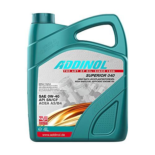 ADDINOL SUPERIOR 0W-40 A3/B4 Motorenöl, 4 Liter