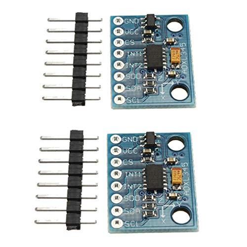 HiLetgo 2pcs ADXL345 3-Axis Digital Acceleration of Gravity Tilt Module GY-291 IIC/SPI Transmission for Arduino