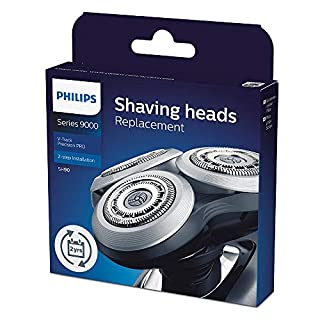 Philips Shaver Series 9000 Electric Shaver Replacement Head with V-Track Precision Blades PRO, Compatible with Shaver Series 8000 & 9000, Black/Silver, SH90/70 (B07FSMWHM5) | Amazon price tracker / tracking, Amazon price history charts, Amazon price watches, Amazon price drop alerts