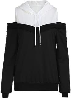 Women Sweatshirt Off Shoulder Hoodie Blouse