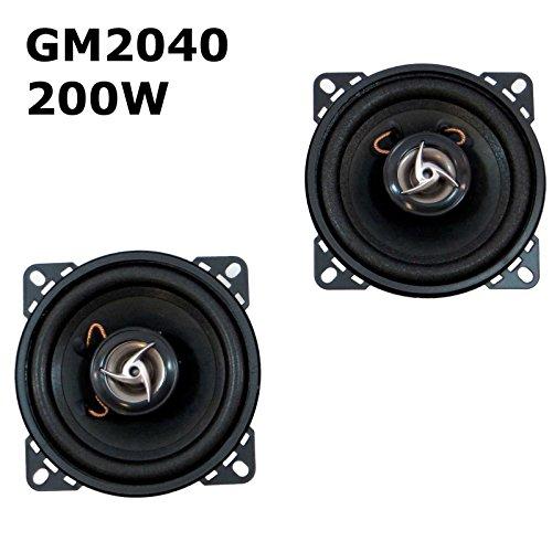 2 x Enceinte Haut-Parleur de voiture 200 W max Enceintes Paire de haut-parleurs 2 voies 100 mm gM2040