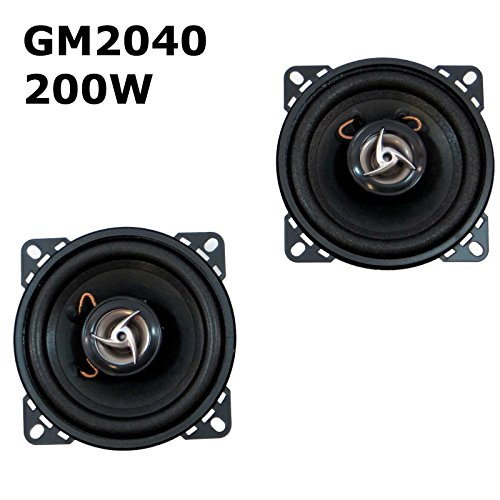 2 haut-parleurs pour voiture 200 W Max haut-parleurs 2 voies 100 mm GM2040