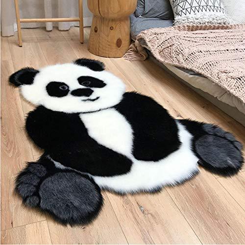 Tapis Panda Motif Tapis Forme Animale Zone Tapis pour Salon Tapis Enfants Chambre Décor 90x120 cm
