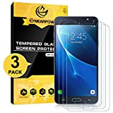 NearPow [3 Pack Protector de Pantalla para Samsung Galaxy J7 2016 Cristal Vidrio Templado [9H Dureza] [Alta Definicion] [Sin Burbujas]
