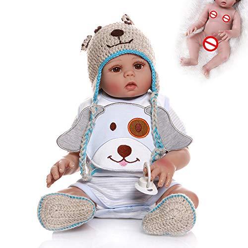SXFYGYQ Simulación Baby Rebirth Doll Twin Dolls Realista Suave Silicona Puede Bañarse y Regalo 48cm