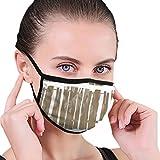 Unisex Masken Nahtloses Muster aus Holz 6,8'x 4,7' Zoll Mundmaske Mode Wiederverwendbare waschbare Outdoor-Unisex-Maske