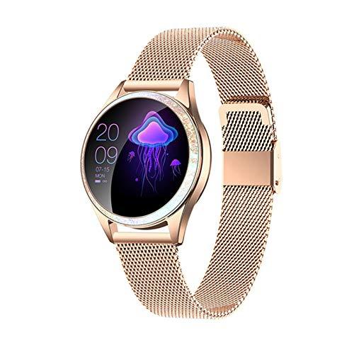 KW20 SmartWatch, Reloj de Bluetooth de la frecuencia del corazón Impermeable IP68 de Las señoras, Reloj de la Pulsera de Las señoras vs KW10 Smartwatch,D