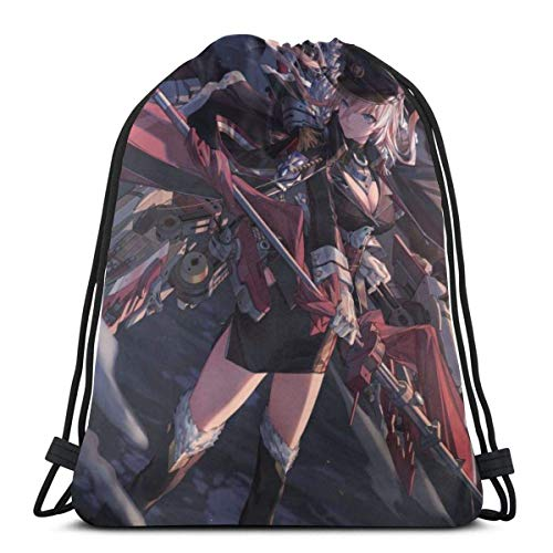 Yuanmeiju Mochila con cordón Drawstring Bags Sport Gym Party Gift Backpack Storage Goodie Azur Lane Bismarck