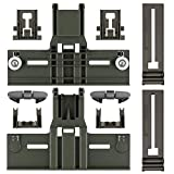 Upgraded 10 Pcs Polymer Material W10350376 Dishwasher Top Rack Adjuster & W10195840 & W10195839 & W10250160 & W10508950 Dishwashers adjuster kit fits Replacement for Whirlpool Kenmore Dishwashers