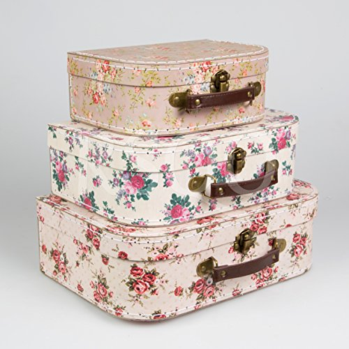 Set of 3 Suitcase Storage Boxes School Home Decor Sass and Belle Various Designs