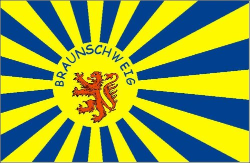 Fahne Braunschweig Fanfahne Flagge Gr. 1,50x0,90m - FRIP -Versand®