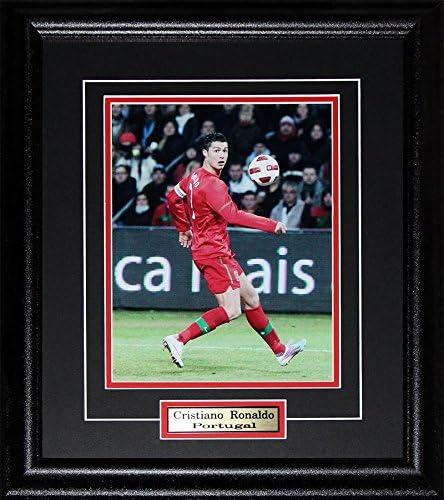 Midway Memorabilia Cristiano Ronaldo Team Portugal UEFA FIFA Euro World Cup Soccer 8x10 Frame product image