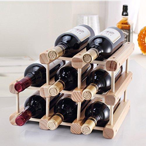 Ornements de support de vin en bois solide DIY 8Bottles Wine Racks peuvent être assemblés Présentoir